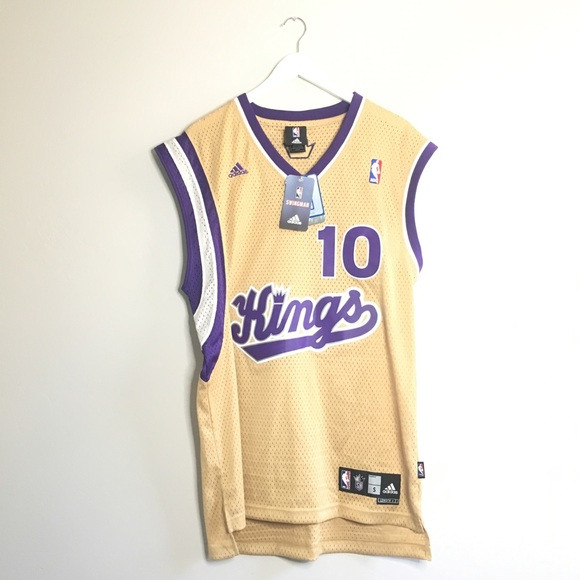 best sneakers ca3d2 8d1e1 Sac King's Mike Bibby #10 Retro Throwback Jersey NWT